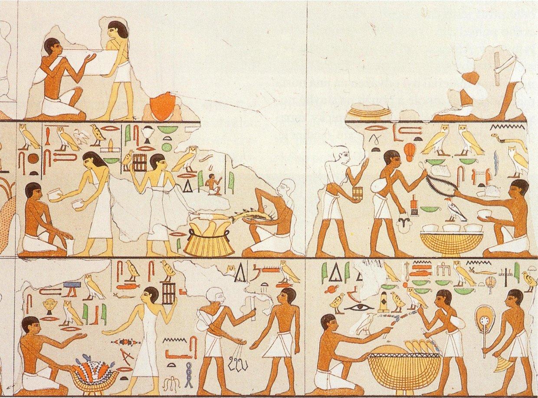 写真2 市場の場面(Denkmaeler aus Aegypten und Aethiopien)